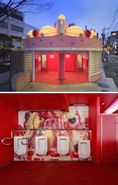 Десертный общественный туалет.