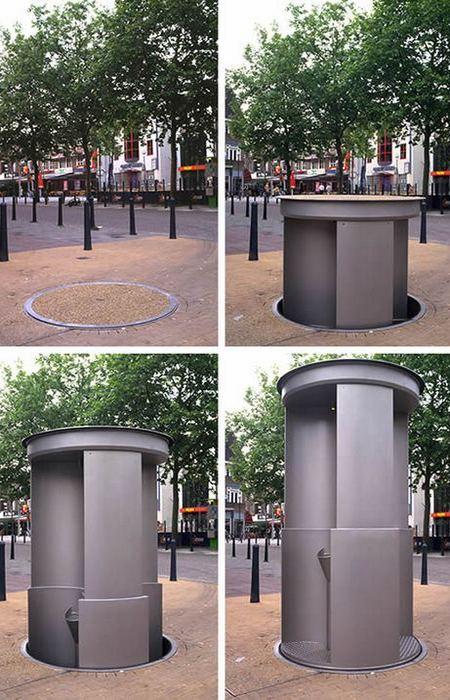 Исчезающий общественный туалет.