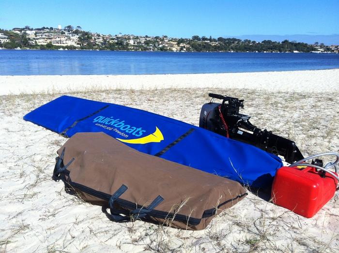 Так выглядит лодка, сложенная в сумку.
