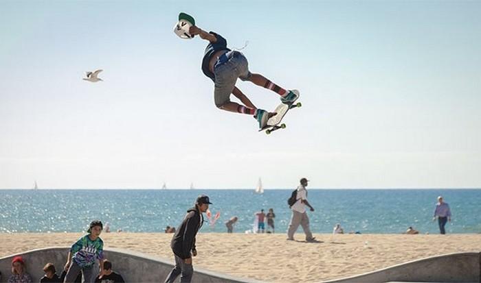 Часть повседневной культуры: скейтбординг.