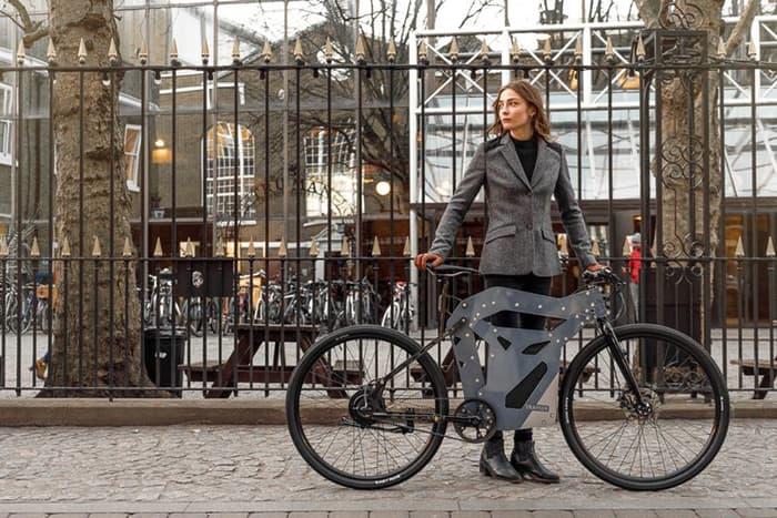 Электровелосипед оригинального дизайна.
