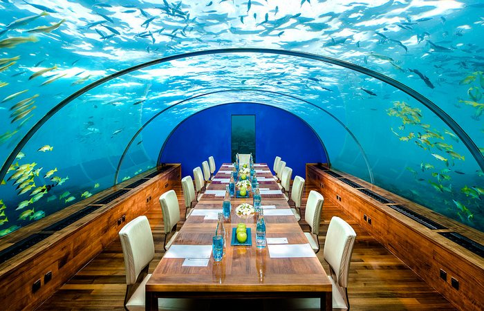 Ресторан «Ithaa Undersea Restaurant».