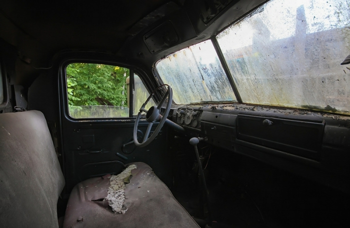 В салоне ГАЗ-51.