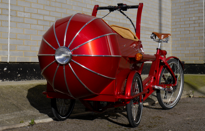 Колясочный велосипед-тривиллер от Boxer Cycles.