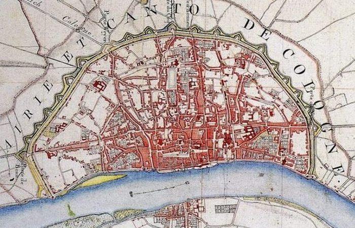 Карта-схема Colonia Claudia Ara Agrippinensium.