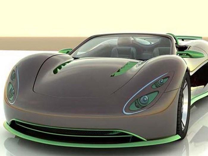 Scorpion Ronn Motors – зелёный суперкар.