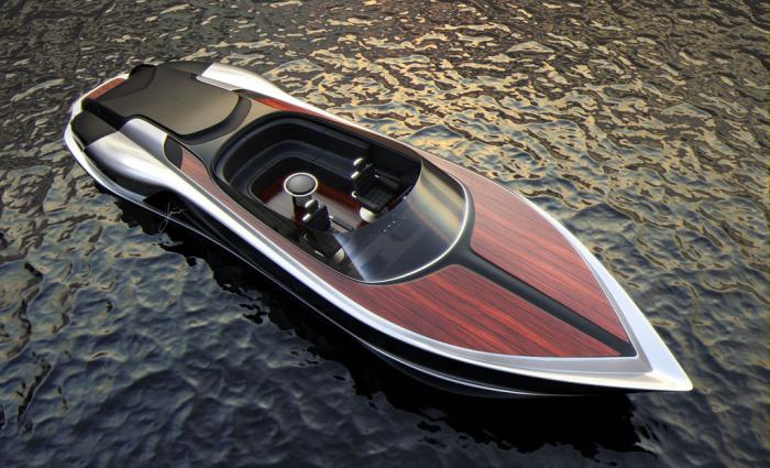Новое дизайнерское видение лодки-плоскодонки.