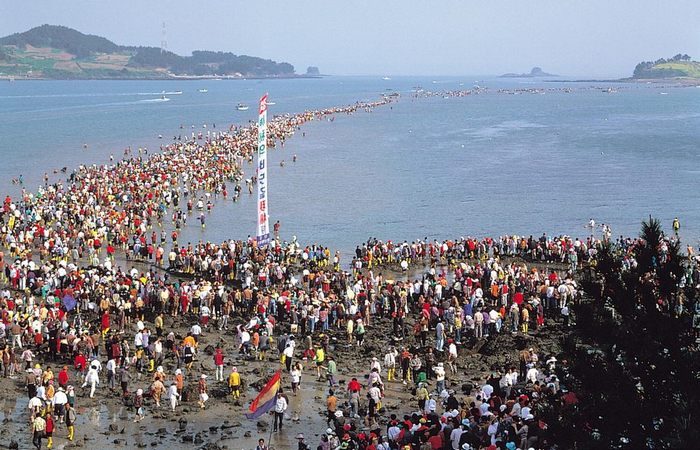 Место проведения ежегодного фестиваля «Разделения моря».