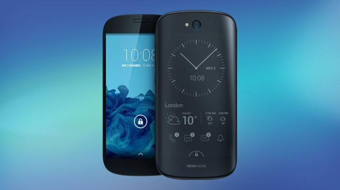 YotaPhone 2 с двумя экранами.