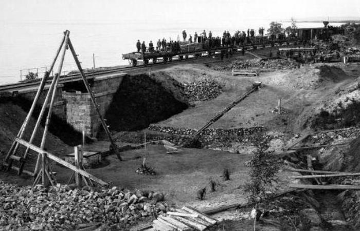 Строительство сахалинского тоннеля.