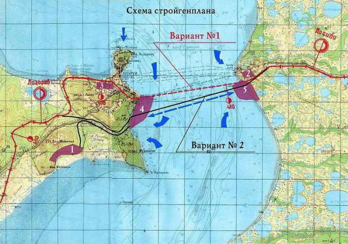 Карта запланированной стройки.