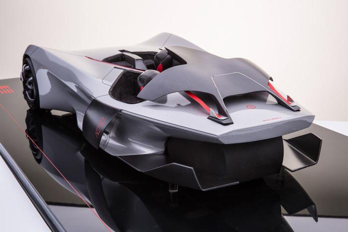 Суперкар-тривиллер Saleen 3 Wheeler Concept.