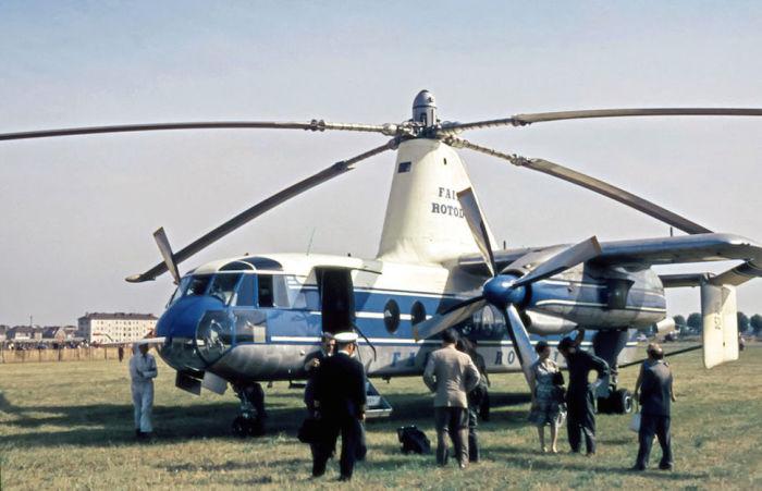 Гибрид самолета и вертолёта Fairey Rotodyne.