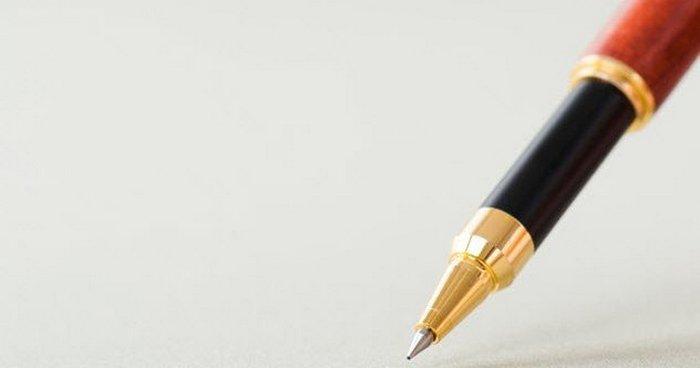 Обычная шариковая ручка.