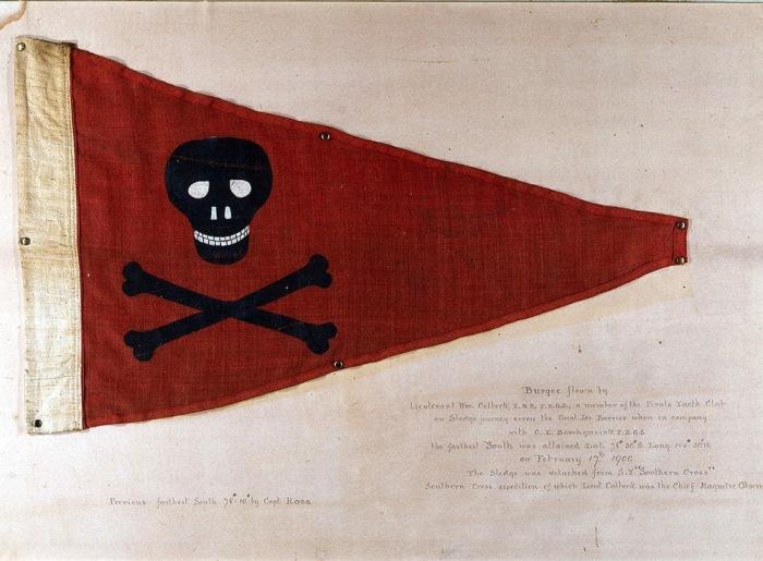 Треугольный флажок яхт-клуба Pirate из Бридлингтона.