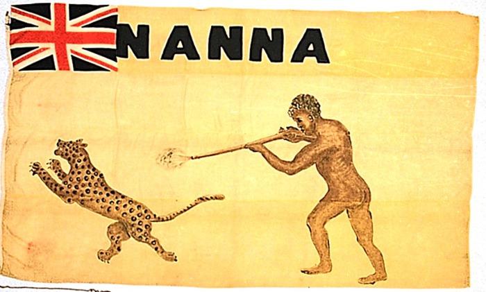 Личный флаг Нана Олому.