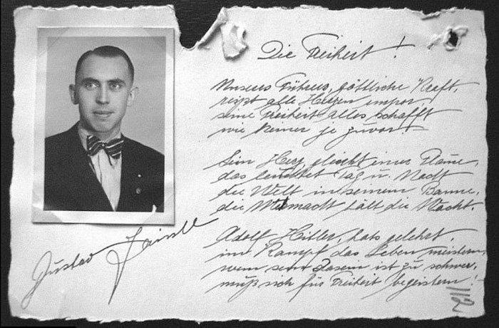 Тайник с письмами к Гитлеру.