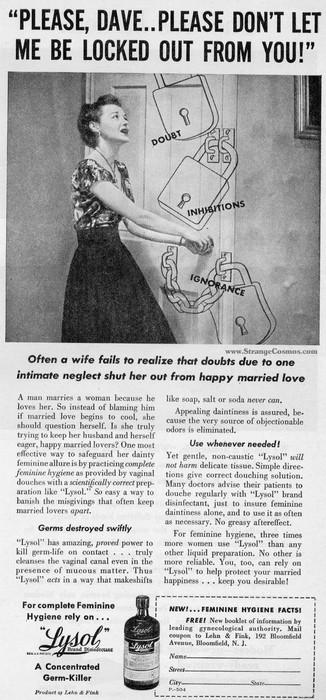 Реклама лизола.