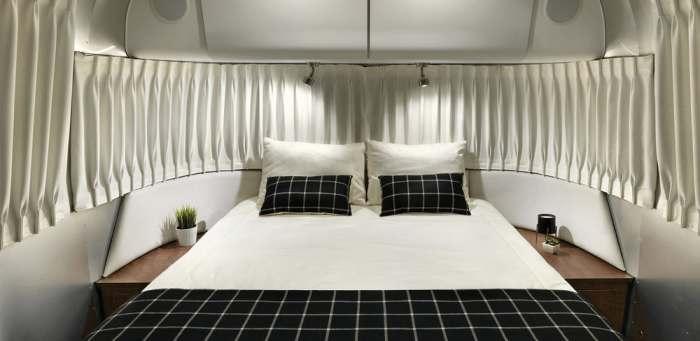 Спальня на двух, но в трейлере может жить и шестеро.