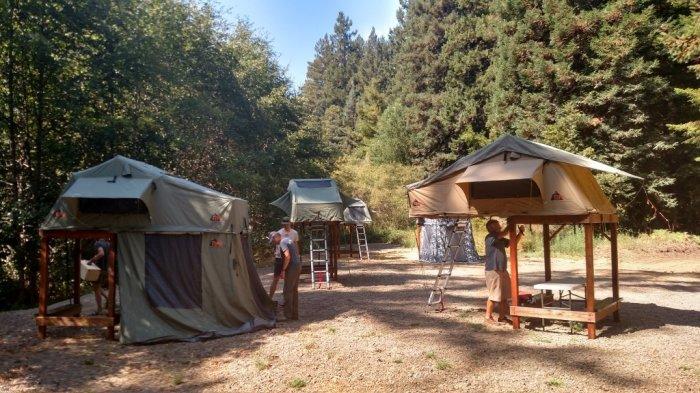 Можно создать настоящий лагерь.