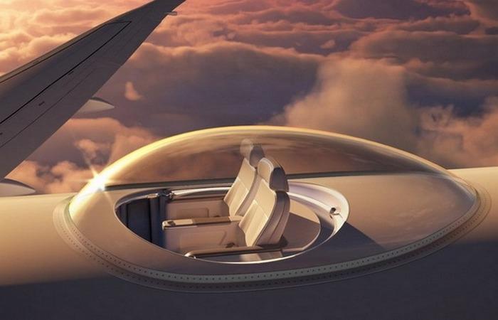 Иллюминатор SkyDeck для пассажирских авиалайнеров.