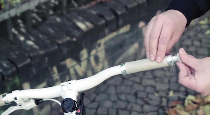 SmrtGRiPS - цилиндр, помещаемый в руль велосипеда.