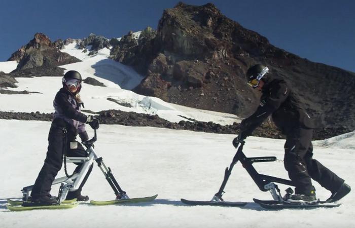 Новый лыжный велосипед Snogo.