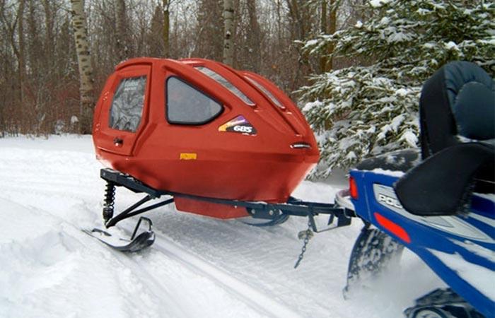 Сани Equinox 685 Snowcoach - зимние прогулки с комфортом.