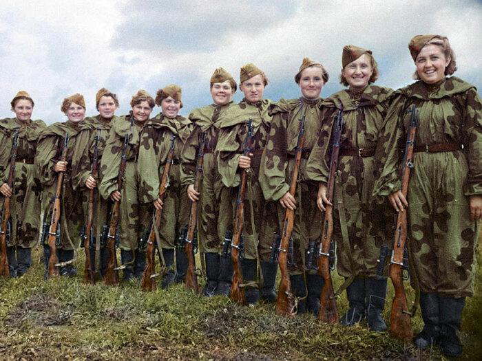 В 1943 году появляется первая школа для женщин-снайперов. ¦Фото: karhu53.livejournal.com.