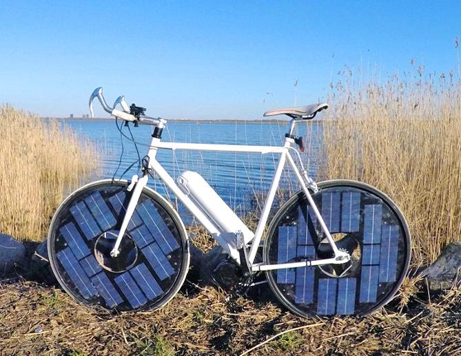 Солнечный велосипед Джаспера Фраусинга.