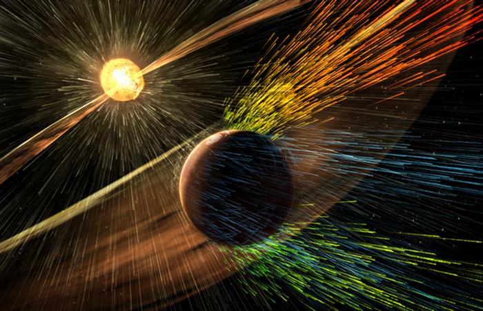 Выброс корональной массы попал в атмосферу Земли.