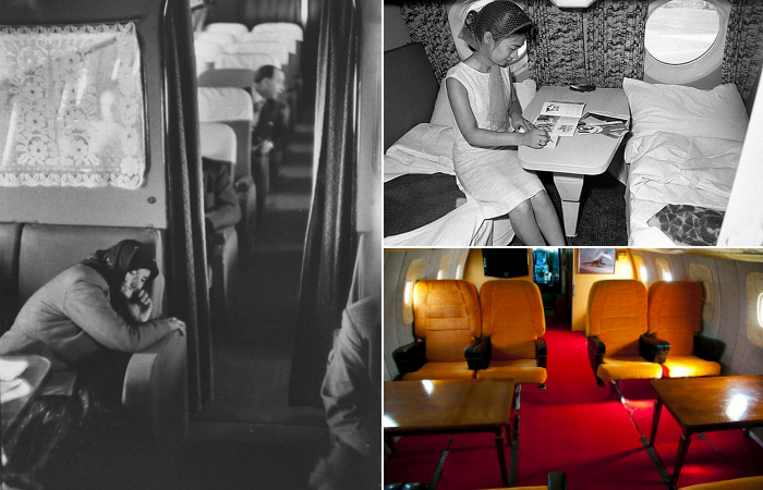 Как выглядел первый класс в советских авиалайнерах.