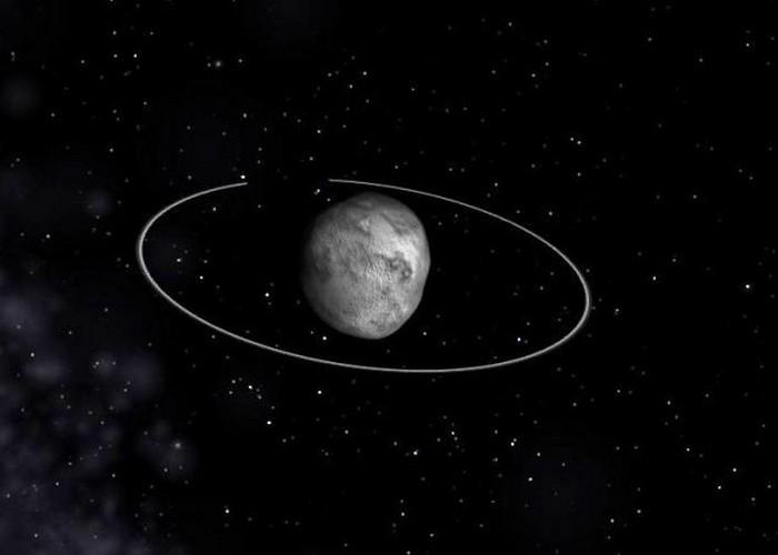 Астероид с кольцами.