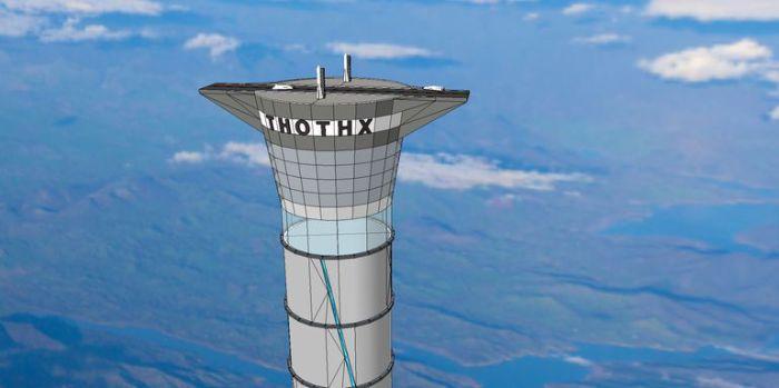 Концептуальная модель космического лифта Thothx.