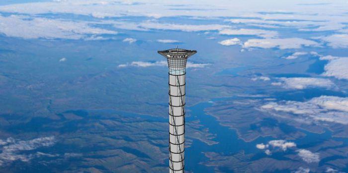 Так выглядит космический лифт на бумаге.