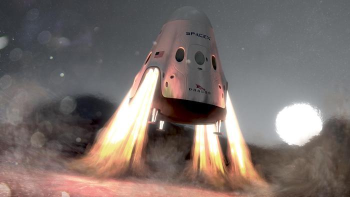 SpaceX выведет на Марс Red Dragon.