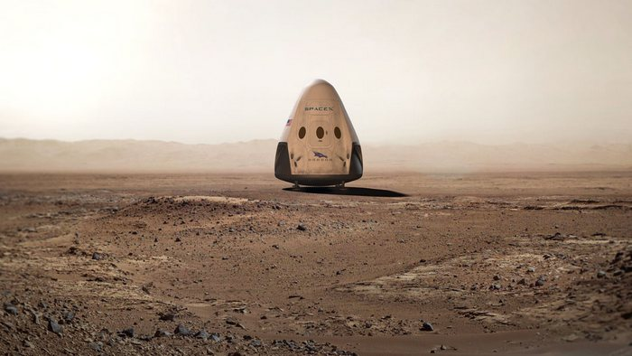 Как это будет: Red Dragon на Марсе.