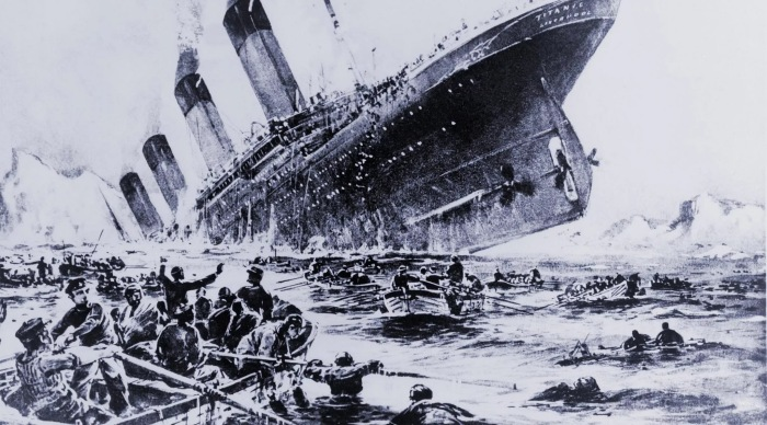 Наличие такой воронки вокруг Титаника - миф. |Фото: telegra.ph.