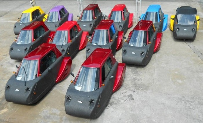 Гиперэкономичный автомобиль-амфибия Spira4u.