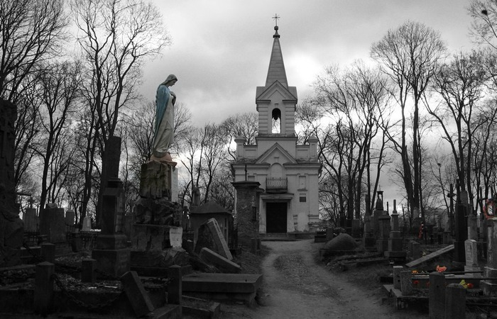 Католическое кладбище, Гродненская область, Беларусь.