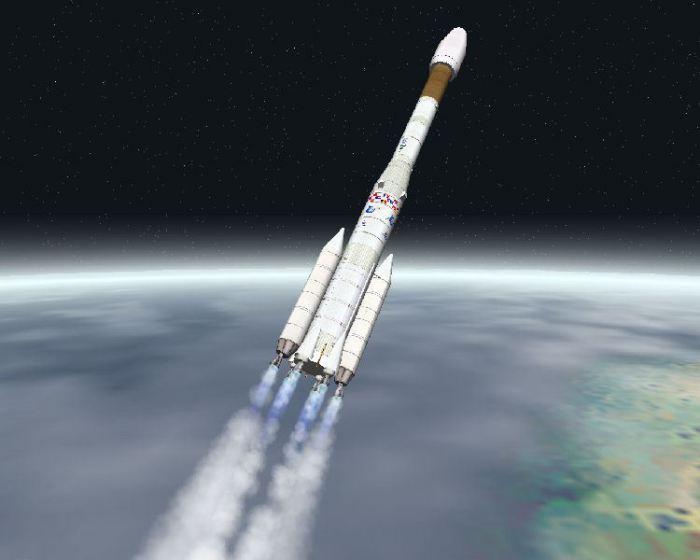 Ariane-4 выводит спутник на орбиту.