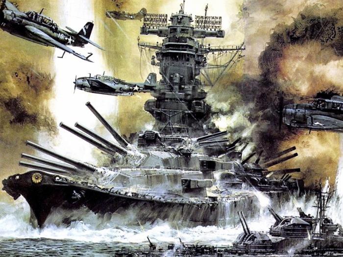 Оба линкора были уничтожены в бою.