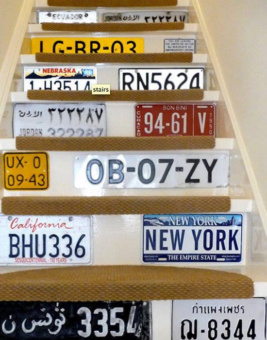 Арт-объект «Лестница номерных знаков».