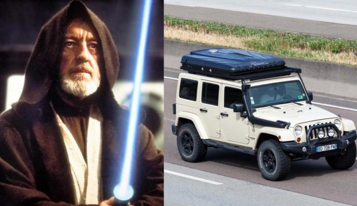 Оби-Ван и Jeep Wrangler AWD.