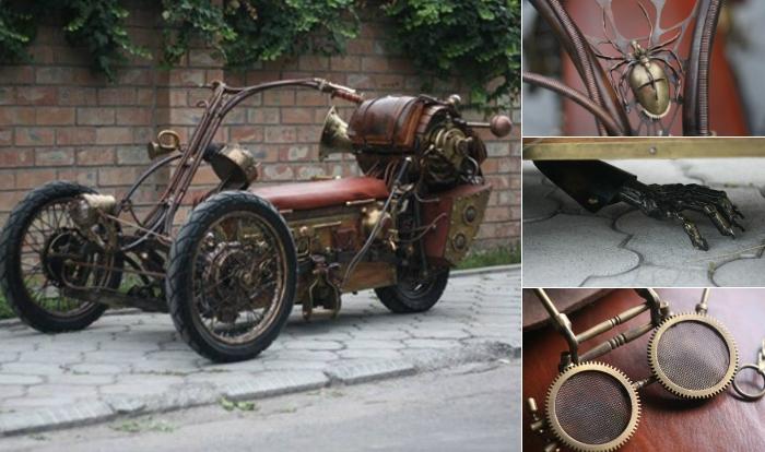 Стимпанк-трицикл.