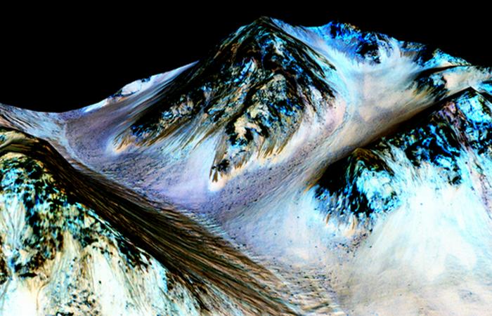 На Марсе была найдена жидкая вода.