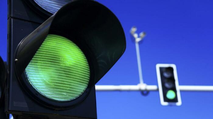 Разметка с датчиками часть системы интеллектуального  светофора. ¦Фото: kursiv.kz.