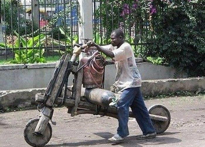 Хендмейд мотоцикл.