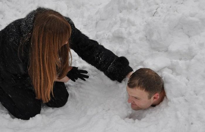 Самое длительное пребывание в снегу.