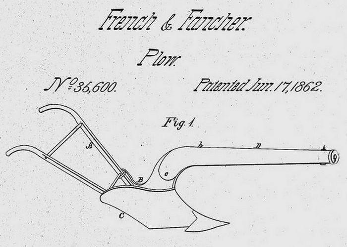 «Новый и улучшенный боевой плуг» от WH Fancher и CM French.